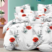 Bed set with continental quilt 230x250 crepe MH50
