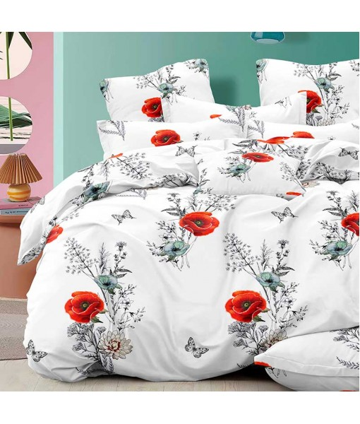 Bed set with continental quilt 180x220 crepe MI50