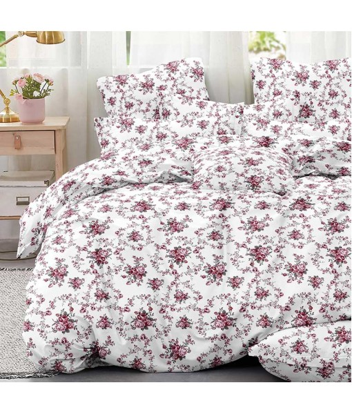 Bed set with continental quilt 180x220 crepe MI51
