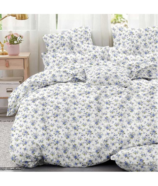Bed set with continental quilt 180x220 crepe MI52