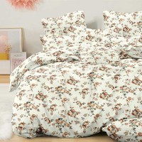 Bed set with continental quilt 230x250 crepe MH53