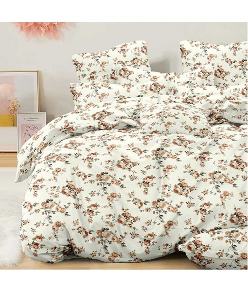 Bed set with continental quilt 180x220 crepe MI53
