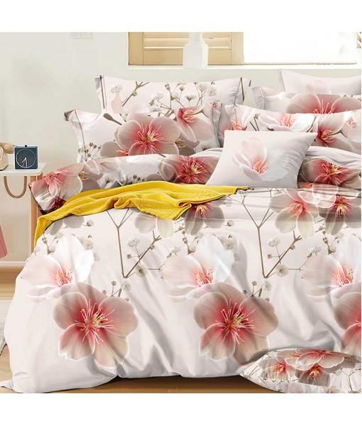 Bed set with continental quilt 230x250 crepe MH54