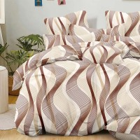 Bed set with continental quilt 230x250 crepe MH55