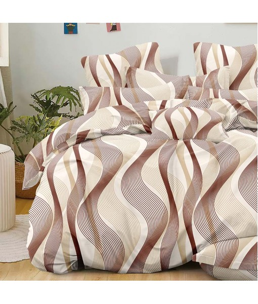 Bed set with continental quilt 180x220 crepe MI55