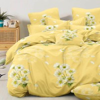 Bed set with continental quilt 230x250 crepe MH56