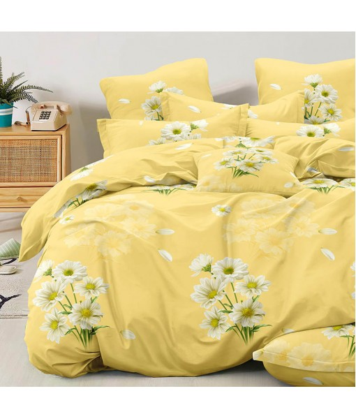 Bed set with continental quilt 180x220 crepe MI56