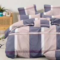 Bed set with continental quilt 230x250 crepe MH57