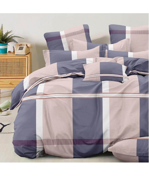 Bed set with continental quilt 180x220 crepe MI57