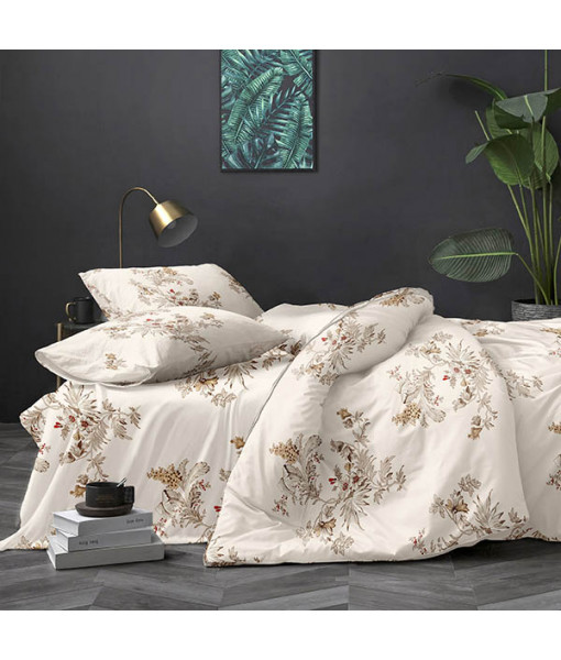 Bed set with continental quilt 180x220 crepe MH21