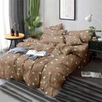 Bed set with continental quilt 180x220 crepe MH04