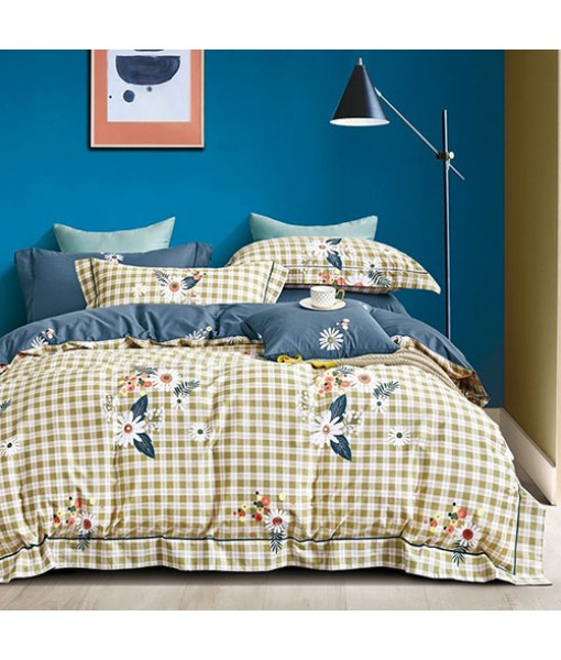 Bed set with and continental quilt 180x220 ranforce MK24