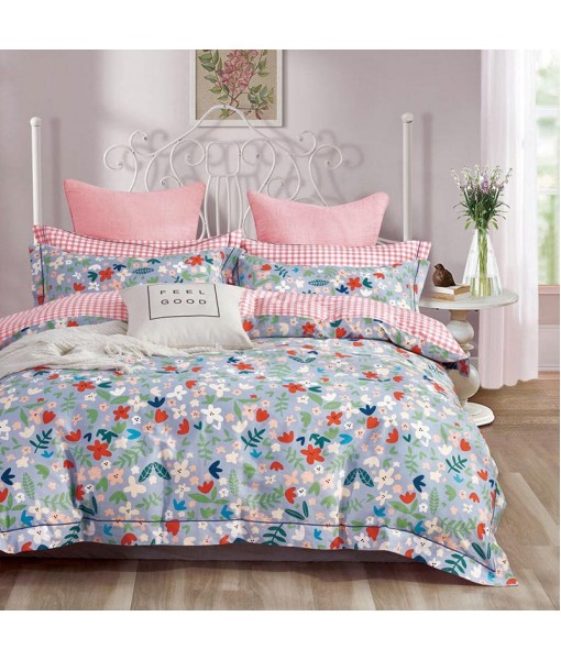Bed set with and continental quilt 180x220 ranforce MK69