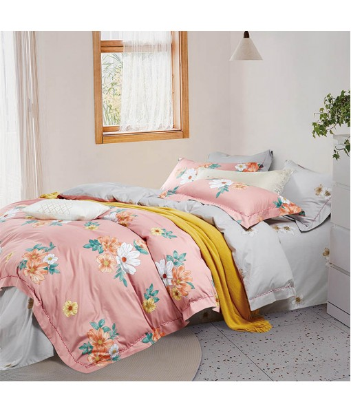 Bed set with and continental quilt 180x220 ranforce MK71