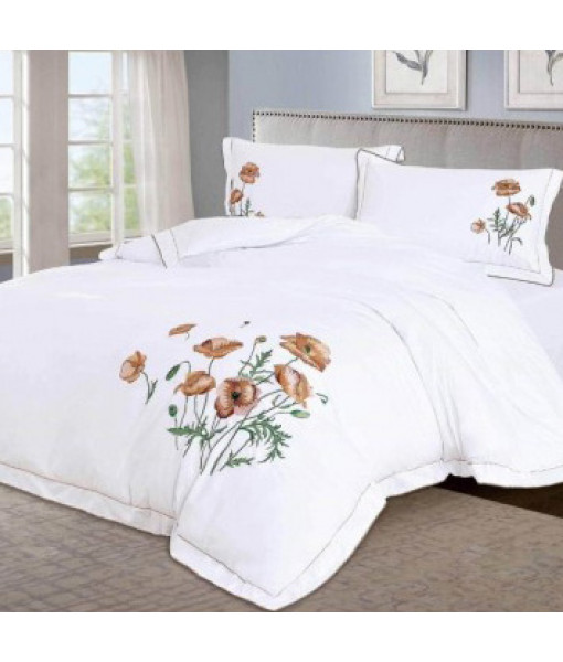 Bed linen satin cotton extra with embroidery MM07