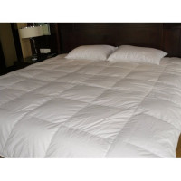 White continental quilt with goose fluff 150x200, Weight: 1.1 kg