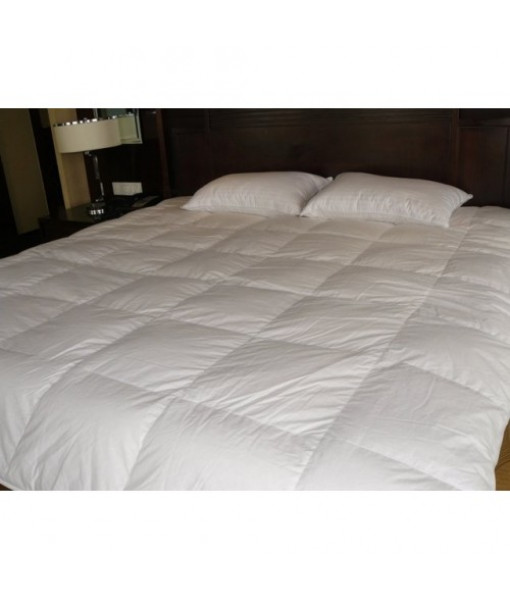White continental quilt with goose fluff 140x200, Weight: 1.1 kg